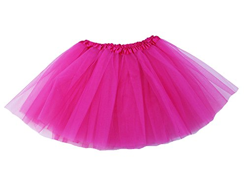 The Hair Bow Company Girl & Teen Tulle Tutu Skirt for 8-16 years Hot Pink