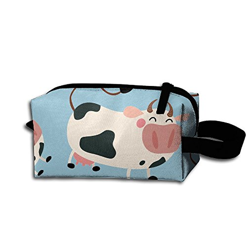 Z45w CUBE Cow Cartoon Men & Women Toiletry Shaving Kit Organizer Multifunction Portable Travel Cosmetic Pouch Makeup Bags With Strong Zipper