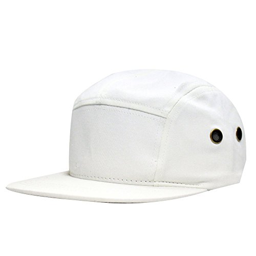 City Hunter Cn140 Plain Blank 5 Panel Hats 13 Colors (White)