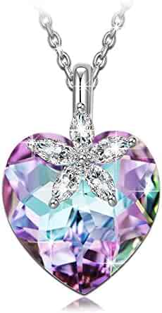 ♥Classic Gift Package♥ 925 Sterling Silver Pendant Necklace with Crystals from Swarovski, NINASUN