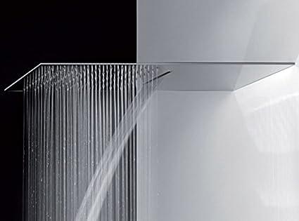 Gessi tremillimetri soffione doccia con pioggia e cascata cm 55x30
