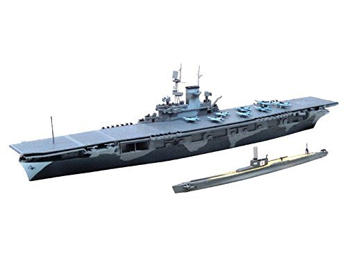 - 1/700 water line US Navy aircraft carrier WASP (WASP) and the Japanese Navy submarine I 19