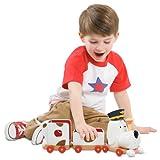 Tickety Toc JU52726 Pufferty - Tren de juguete (con música), diseño de perro