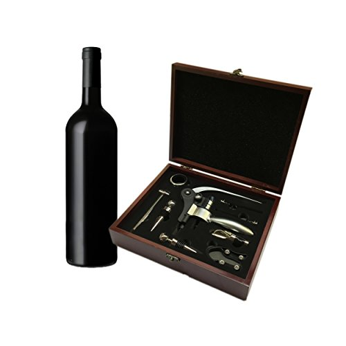 Venitheus-Premium-Wooden-Wine-Gift-Set-9-Pieces-Wine-Accessories-NEW