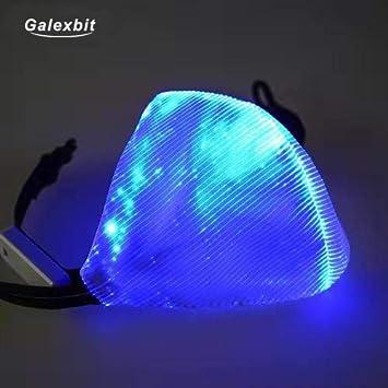 Galexbit Luminescent Fiber Party Mask 7 Colors Light Led Flash Light