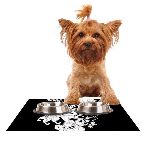 Kess InHouse Vikki Salmela My Garden  Feeding Mat for Pet Bowl, 18 by 13-Inch