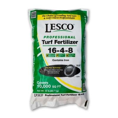 Lesco 16-4-8 Profesional Fertilizer - 50 Lbs