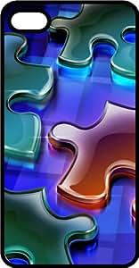 Puzzle Pieces Black Plastic Case for Apple iPhone 6