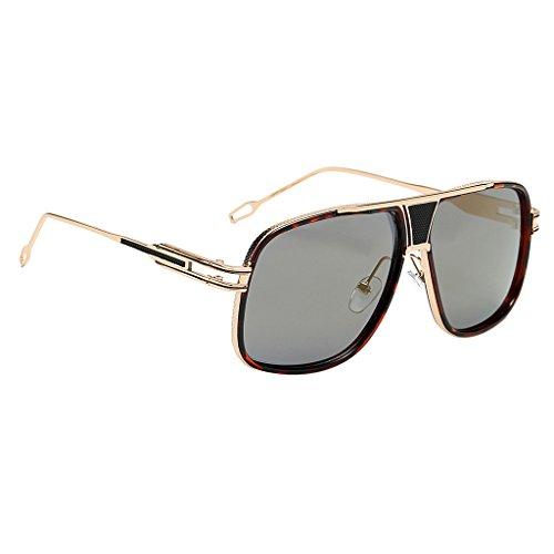 Vintage Sol Gafas Clásico de lente de De Elegante Estilo marco Regalo Tonos MagiDeal del Retro oro Moda Viaje del leopardo Cuadradas Cómodo Fiesta qdtXEwTqx