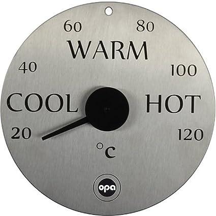 OPA Stainless Steel HOT Sauna Thermometer - Finnish Design - Opa Muurikka Oy