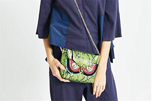 Mano Messenger Borsa jaycel Accessori mediumbag Catena Mucca In Donna Maska5 Fashion Originale Ginny Bag Double sided A Design Spalla Sostituibili Pelle Carino Di Gufo Piccola 0nP8wkOX