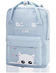 SugooVibe Girls Animal Printed Backpacks Kitten School Bag Fits 14 inch Notebook