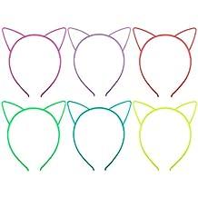 Candygirl Girl's Plastic Headbands Tiara Bunny Cat Bow Hairbands (GLOW IN DARK)