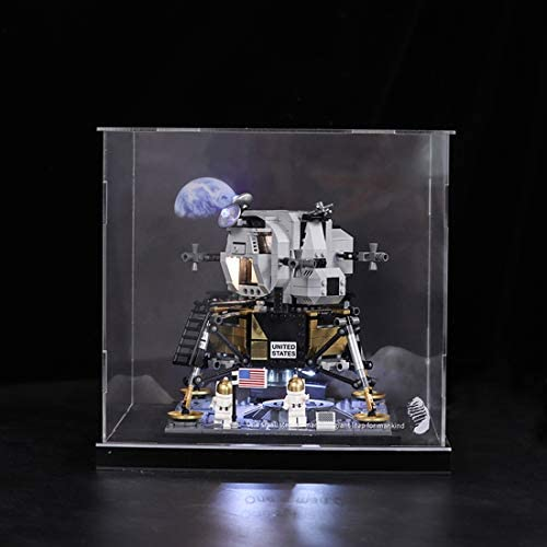 Mecotecn Acrilico Vetrina Display Case per Lego 10266 Creator NASA Apollo 11 (Modello Lego Non Incluso)