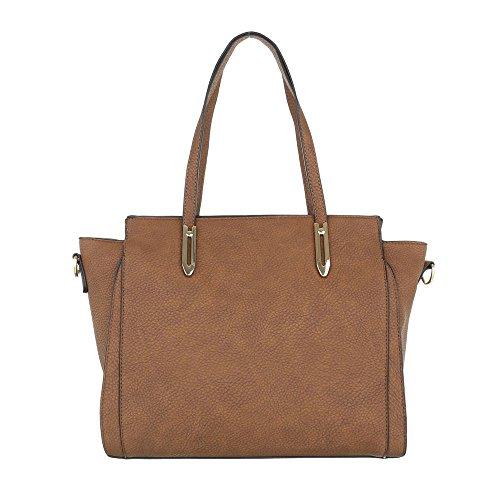 Schuhcity24 Taschen Handtasche Used Optik Camel