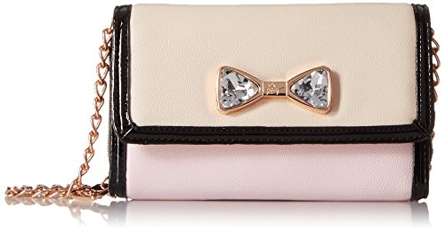 Betsey Johnson Jewel House Rock Cross Body Bag, Blush, One Size (Betsey Johnson Bag Pink Bow)