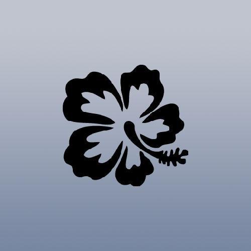 auto-black-window-decoration-laptop-art-bike-hibiscus-hawaiian-flower-notebook-car-wall-art-die-cut-