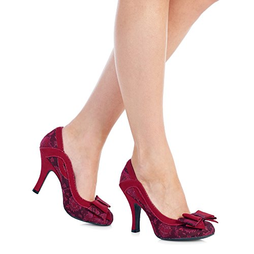 Sole Pumps Ivy Red Protector Court Free Shoe Belle Suede Faux Divino Ruby Women's Shoo amp; Eqw7Hg0