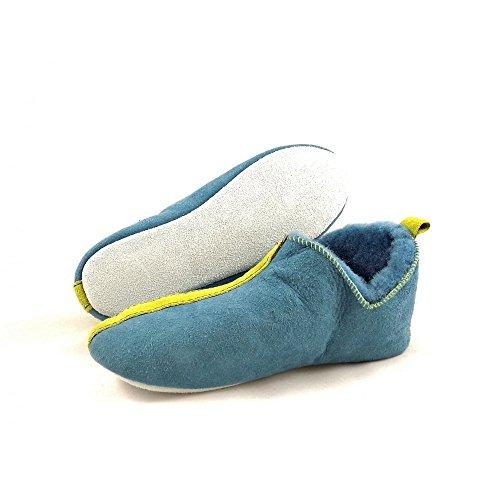 Slipper Blue Pastore Pelle Di Pecora Lina In qYT5Ax00
