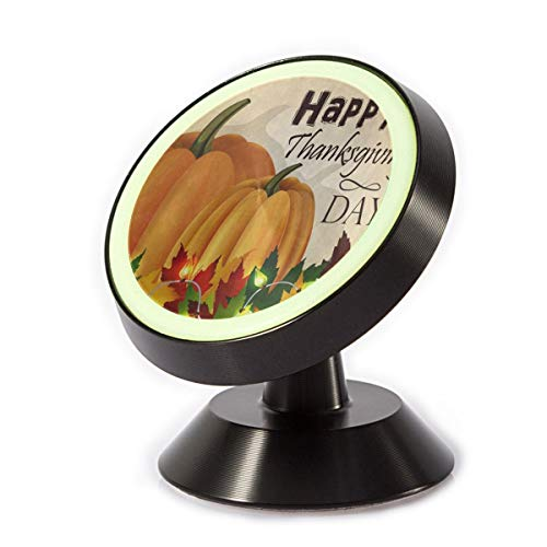 Car Phone Holder Happy Thanksgiving Day Pumpkin Maple Leaf Harvest Magnetic Phone Holder 360˚ Rotation Universal Mount Cell Phone Stand for Phone X/6/6s/7/8/8 Plus/7, Galaxy S9/S9 Plus/S8/S7