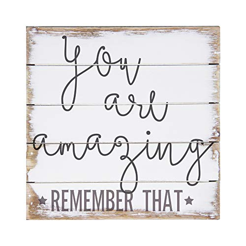 Sincere Surroundings PET1022 You are Amazing 6 x 6, White (Best Word For Beautiful)