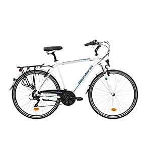 41D7yZQcrtL. SS300 F.lli Schiano Voyager, Bici Trekking Uomo, Bianco-Blu, 28''
