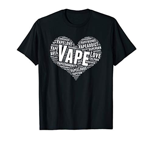 I Love Vaping - Vape Heart Clouds E-Cigarette T-Shirt