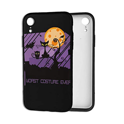 Guuio Worst Costume Ever Halloween Scared Black Cat Apple Skin Cell iPhone XR Case/Cover