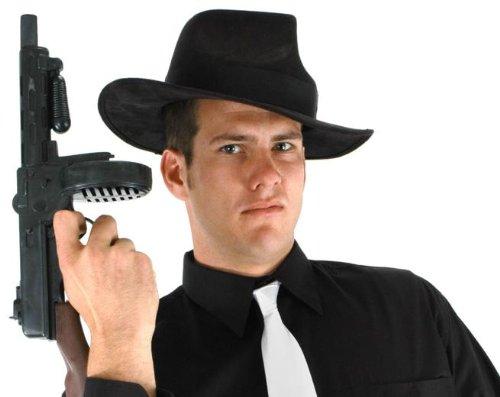 [elope Mobster Hat, Black, One Size] (Male Mobster Costumes)