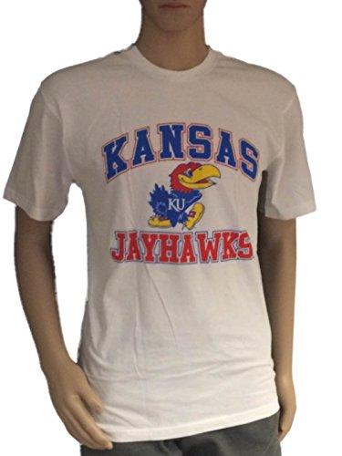 Kansas Jayhawks Missouri Tigers House Divided White Gray T-Shirt (S)