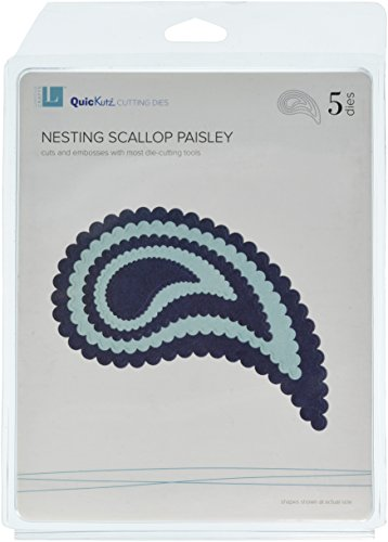QUICKUTZ Lifestyle Crafts Nesting Scallop Paisly Cookie Cutter Die Set