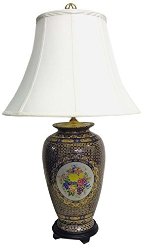 Amita Trading Royal Limogesque Porcelain Lamp with Shade