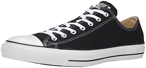 Converse Unisex Chuck Taylor All Star Low Top Black Sneakers - 9.5 B(M) US Women / 7.5 D(M) US - Outlet Nyc Stores