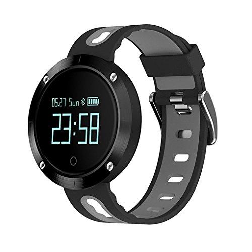 0.95 inch DM58 Smart Watch Bracelet IP68 Waterproof Blood Pressure Heart Rate Monitor Wirstband (Dark Grey)