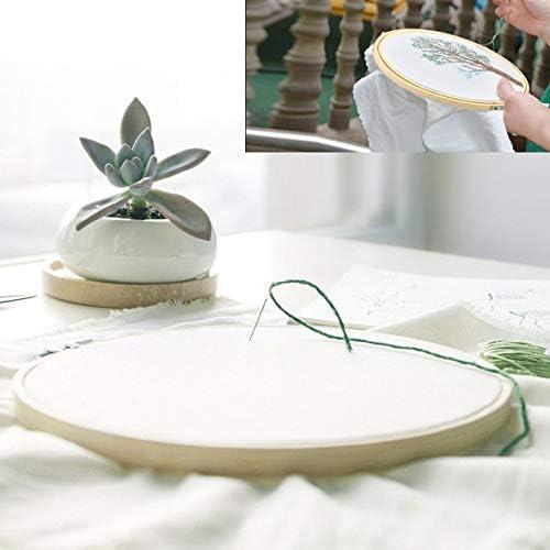 Tivollyff 6種類のサイズの丸い形のハンディ木製クロスステッチミシン刺繍フープリング竹縫製ツールアクセサリー