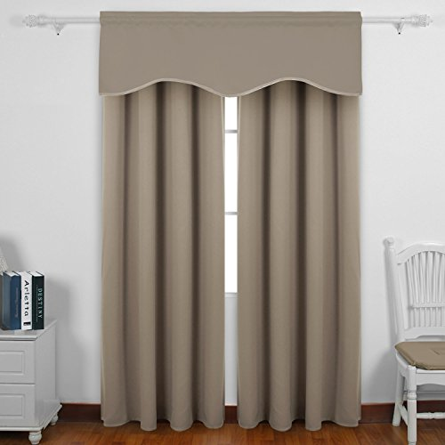 Authentic deconovo decorative rod pocket blackout curtains for 18 inch window blinds