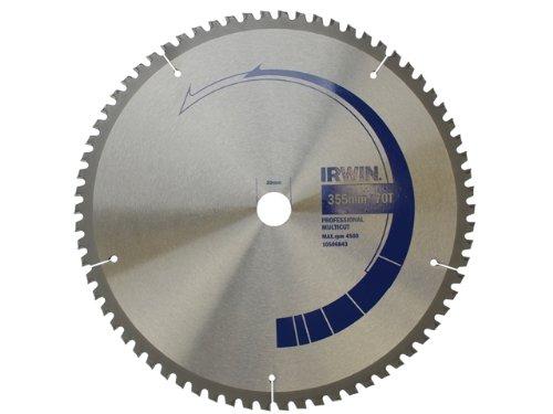 Irwin 10506843 - Cuchilla para sierra de disco, 355 x 30 mm, 70 dientes 355 x 30mm IRW10506843
