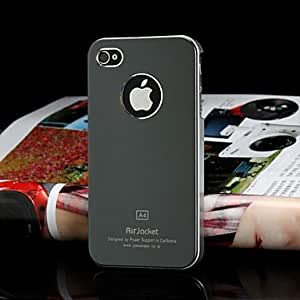 ZCL JOYLAND Frosted Solid Color Metal Back Cover for iPhone 4/4S (Assorted Color) , Golden