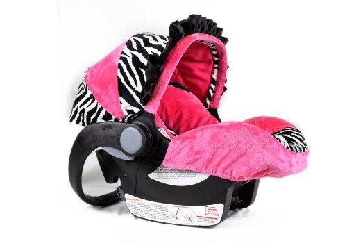 zebra car seat canopy cover - 5