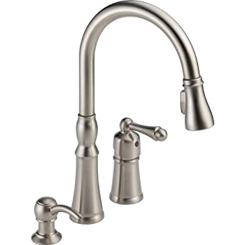 Peerless Single Handle Kitchen Sink Faucet With Pull Down