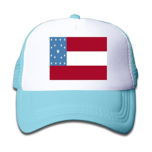 cheap Futong Huaxia California Flag Boy & Girl Grid Baseball Caps Adjustable sunshade Hat For Children