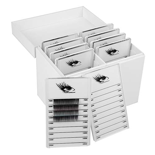 Acrylic Cosmetic Storage Makeup Organizer Clear Eyelash Storage Box Eyelashes Glue Pallet Holders 10 Layers Grafting Eyelash Extension (Best Pallet For Eyelashes)