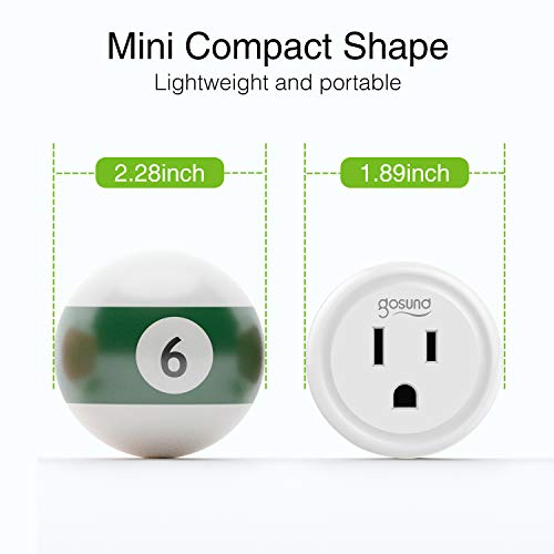 Smart Plug, Gosund Mini WiFi Outlet Works with Alexa, Google Home, No Hub Required, Remote Control Your Home Appliances from Anywhere, ETL Certified,Only Supports 2.4GHz Network(4 Pieces)