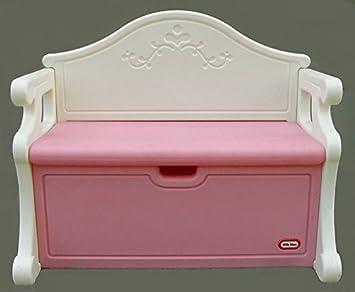 Amazon Com Little Tikes Victorian Toy Storage Chest Bench Pink