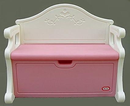 Merveilleux Little Tikes Victorian Toy Storage Chest Bench (Pink/White)