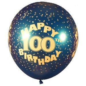 Image Unavailable Not Available For Colour 100th Birthday Balloons