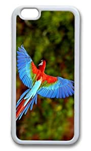 MOKSHOP Adorable flying parrot Soft Case Protective Shell Cell Phone Cover For Apple Iphone 6 (4.7 Inch) - TPU White