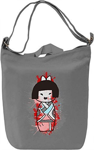 Little Geisha Borsa Giornaliera Canvas Canvas Day Bag| 100% Premium Cotton Canvas| DTG Printing|