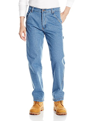 Smith's Workwear Men's Carpenter Unlined Jeans, Light Vintage Wash, 34x32 (Tall Big And Carpenter Jean)