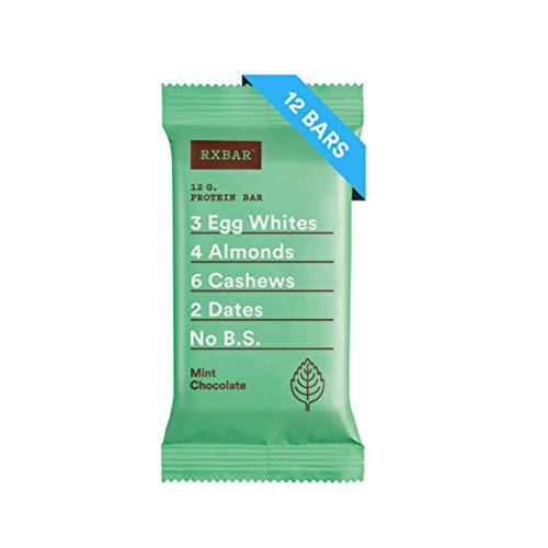 (RXBAR Whole Food Protein Bar, Mint Chocolate, 1.83 Ounce (Pack of 12))